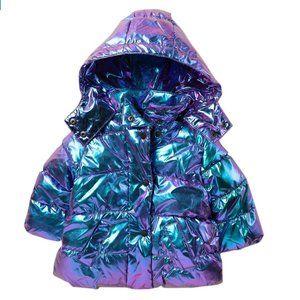 URBAN REPUBLIC Iridescent Puffer Coat (Baby Girls)